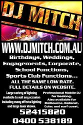 DJ MITCH - MOBILE DJ GEELONG FOR ALL TYPES OF FUNCTIONS