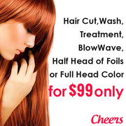 Quality Hairdressing Service & Many More at AUD99