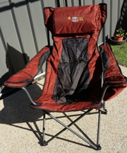 OZTRAIL canvas folding camp chair for sale.