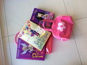 Girls books and bag