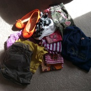 Girls summer clothes and a pair of shoes all clothes are size 8