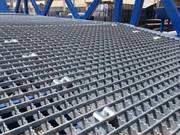 Serrated Press-Locked Steel Grating for Industrial,  Commercial Buildin