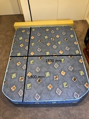 As new QS caravan bed and foam bolster