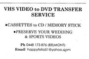 VHS Home Videos to memory Stick