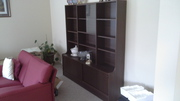 large wall unit chocolate colour