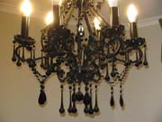 lighting shandleir and wall light